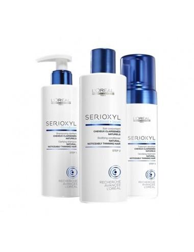 SERIOXYL Kit Hair 1: Acqua - Mousse 125 ml, Shampoo 250 ml, Conditioner 250 ml